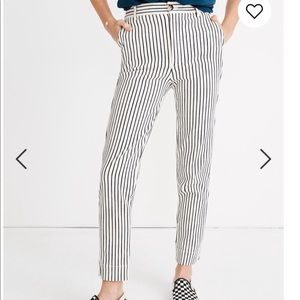 Madewell Tapered Pants Stripe 27